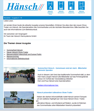 Hänsch Holding GmbH - Press - About Hänsch
